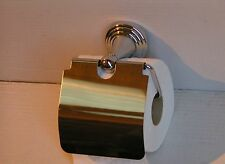 TOILET ROLL HOLDER CHROME with Stainless steel cover.