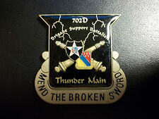 US ARMY 702D Brigade Support Battalion Thunder Main 2D INFANTRY Challenge Coin