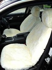 SHEEPSKIN  PREMIUM HI QUALITY CAR SEAT COVERS  ONE PAIR  IVORY NATURAL COLOUR