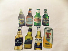 16 PRECUT Novelty Beer Bottles Edible wafer/rice paper cake/cupcake toppers