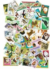LOT DE 50 TIMBRES DIFFERENTS THEMES ANIMAUX