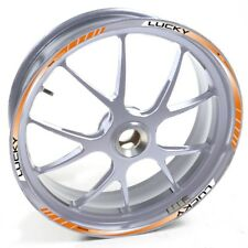 USEN Sticker wheel Rim Triumph silver Bonneville Tag Heuer Orange strip tape vin