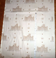 DOWNTON ABBEY Mansion + Logo  New Cotton Fabric LARGE PRINT  by Andover -  bty