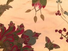 PIERRE FREY Braquenie Mandchou Exotique Floral Woven Silk Paris Remnant New