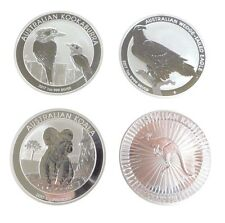 4x 1oz SILVER BULLION COINS 2017  KOALA KOOKABURRA KANGAROO & WEDGED TAIL EAGLE