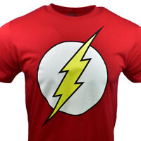 Men's T-shirt -THE FLASH-DC Comics - Universe -  RED - 100% Cotton M, L, XL, 2XL