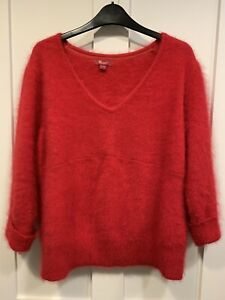 Monsoon Red Angora Jumper Size 18