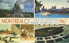 Expo 67 ~ World Exhibition City ~ Montreal QB Quebec ~ MultiView Postcard