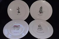 Merry Masterpieces American Coll.1st Ed. 1999 4 Christmas Dinner Plates 10""