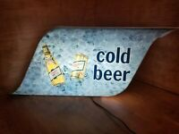 LARGE Vintage 1979 MILLER HIGH LIFE COLD BEER LIGHTED SIGN Working Condition!