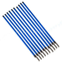 10pcs Electric Guitar Double Two Way Course Truss Rod Rods Steel A3 9*580mm Blue