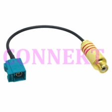 """Fakra SMB Z 5021 female to RCA Video TV female JACK RG174 6"""" pigtail"""