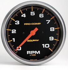 "AUTO METER 5160 10000 RPM PRO-COMP TACHOMETER 5"""