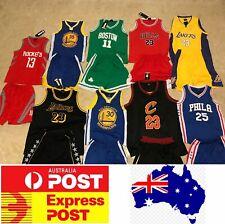 Kids Basketball jerseys set, Lakers, Golden State, Celtics, Philadelphia,Rockets