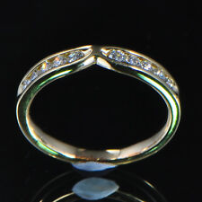 Solid 14kt 585 Yellow Gold Natural Diamond Fashion Ring