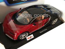 Maisto 1:18 Scale - Bugatti Chiron - Red - Diecast Model Car