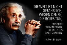 Albert Einstein Spruch 48 Blechschild Schild gewölbt Metal Tin Sign 20 x 30 cm