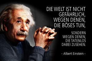 Albert Einstein Spruch 48 Blechschild Schild Metal Tin Sign 20 x 30 cm R0772