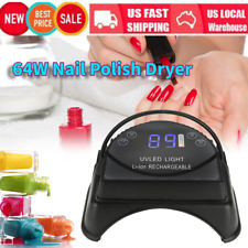 Rechargeable Manicure Nail Lamp 64W Nail Polish Dryer Uv Gel Curing Xmas Gift
