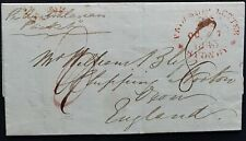 NSW Pre stamp ship letter Sydney Oc 7 1843 to Chipping Norton, GB. Z 27.Fe.1844