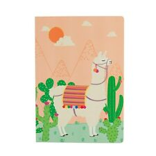 Llama Cactus A5 Notebook Note Pad Blank Plain Unlined Paper Journal Adventure