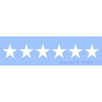 "1.75"" STAR STENCIL STARS CELESTIAL CRAFT STENCILS BORDER TEMPLATE TEMPLATES NEW"