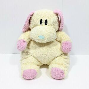 Baby Ty Dogbaby Puppy Dog Plush Rattle Yellow Pink Soft Toy Stuffed Animal