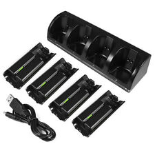 Nintendo Wii Remote Controller QUAD Charging Dock Charge Station Batteries Black