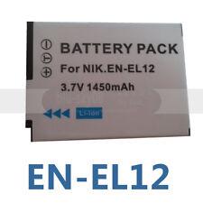 Battery for Nikon CoolPix EN-EL12 S630 S640 S6100 S6150 S6300 S9200 S9500 AW110S