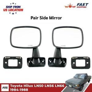 Side Door Mirror Rear View Pair Fits Toyota Hilux LN50 LN56 Pickup 1984-88 PUS