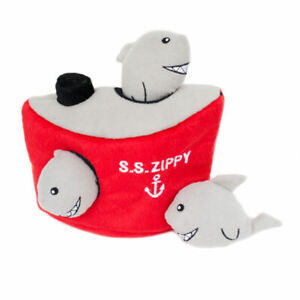 ZIPPYPAWS Shark 'n Ship Hide-and-Seek Squeaky Dog Toy     G