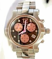Renato Women's Diamond Beauty Stainless Steel Chronograph Mother of Pearl Watch