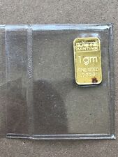 Sunshine Mint 1 Gram .9999 Fine Gold Bar - Free Shipping