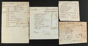 Mr. Robert Burns Personal Account Receipts & Bills Dumfries, Scotland 1788-95