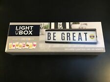 Light Box 100 Inserts Letters Emoticons Pack Brand New Cordless Desktop Size