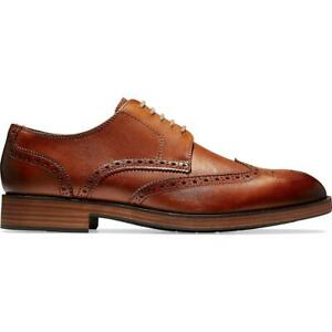 Cole Haan Mens Harris Grand Short Lace-Up Brogue Wingtip Oxfords Shoes BHFO 4556