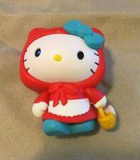 "Sanrio Hello Kitty Red Riding Hood Figure (Size 2"")"