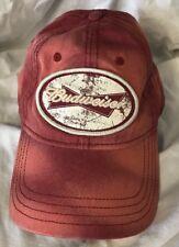 red bleach spotted 2006 Budweiser hat cap