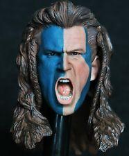 "1/6 scale plastic action figure head sculpt mel gibson braveheart kaustic 12"""