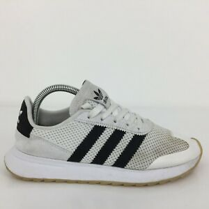 Adidas Flashrunner White Textile Sport Trainer Sneaker BA7760Size UK 6 Eur 39.5