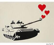Banksy -Tanque del amor Ed. 300 uds Firma impresa. Num. a lapiz. Certif. Edicion