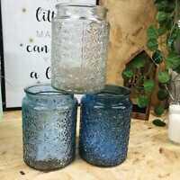 Tea light Candle Holder Vase Glass Home Decor