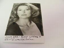 VIVIEN HEILBRON Signed Photo Autograph TV Film Stage Actress Kidnapped