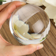 K9 80mm Glass Crystal Paper Clear Half Sphere Lens Ball Magnifying Photo Prop