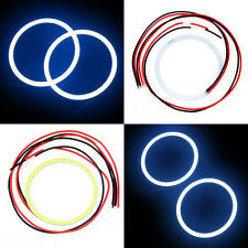 2x 80 MM COB LED Angel Eyes Halo Ring Bulb Car Fog light Lamps For Volkswagen