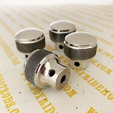 4 x Vintage 'Knurled' Style Polished Aluminum Dash Knobs - SoCal Speed Shop