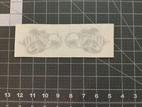 4 Dodge Scat Pack Bee Headlight Decals Vinyl  Echted Glass Reflective White