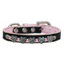 Hip Doggie Diamond Heart Collar Pink XXS New NWT Dog Collar Embellished Fancy