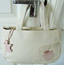 Radley Grab Bag Hand Bag Ivory Pink Trim Excellent Condition Ship Worldwide