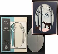 MEMORY BOX DIES - WOODLAND OVAL frame die 99185 Trees Holidays All Occasion